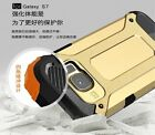 New Shockproof Hybrid Dual Layered Soft Rubber PC Case Cover For Samsung Phones