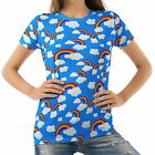 Rainbow And Clouds Women's Clothing T-Shirts Tee b1 acr00731