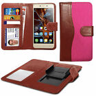 For HTC One X+ - Fabric Mix Clip Function Wallet Case Cover