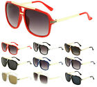 EVIDENCE HIP HOP RAPPER AVIATOR SUNGLASSES RETRO CLASSIC GOLD METAL FLAT TOP VTG