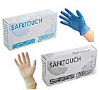 Powdered / Free Disposable Blue Clear Vinyl Gloves Medical Cleaning Food 500 100