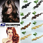 "Women 100% Remy Human 20"" Hair Extensions body wavy Tape In Skin Weft Hot 20Pcs"