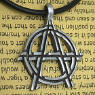 Anarchy Symbol Silver pewter pendant Anarchie anarki анархия anarhija هرج و مرج