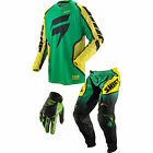 Shift Racing Strike Pant Jersey Glove Black Green Red White Set  Motorcycle