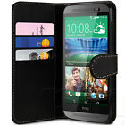 STYLISH SLIM FITTED SOFT PU LEATHER WALLET FLIP CASE COVER FOR HTC ONE M9 PHONE
