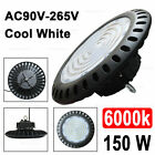 150W 200W UFO LED High Bay Light Industrial Warehouse Fixture UL DLC White 5700k