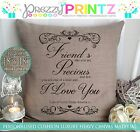 PERSONALISED BEST FRIEND CUSHION CHRISTMAS PRESENT GIFT CANVAS BIRTHDAY CHIC