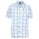 Trespass Arviat Mens Short Sleeve Button Fastening Casual Summer Check Shirt