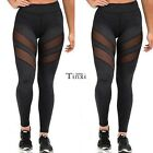New Fashion Womens Mesh Sports Yoga Hollow Out Patchwork Long Leggings TXCL01