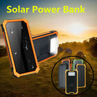 2x300000mAh Waterproof Portable Solar Charger 2 USB Battery Power Bank For Phone