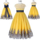 Flower Girl Dress Princess Lace Prom Ball Gown Pageant Party Birthday Wedding