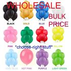 WHOLESALE PLAIN MIX Balloon Latex LARGE High Quality Bulk Price Party Baloon 10""