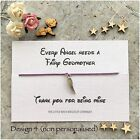 GODMOTHER thank you for being my Wish Bracelet Christening Baptism Gift Fairy