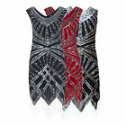 DOWNTON 20's FLAPPER GATSBY CHARLESON ART DECO SEQUIN BEADED DRESS NEW 8 - 18