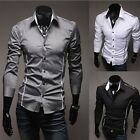 Men's Fashion Casual Shirts Long Sleeves Luxury Shirts Tops 2-6 Days Arrived