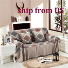 Внешний вид - Nice Checked Linen Blend Slipcover Sofa Cover tUSl Protector for 1 2 3 4 seater