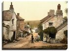 Canvas Print Of boscastle, the village street, cornwall