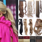 """17"""" 23"""" 24"""" 26"""" Straight Curly Wrap Around Ponytail Clip in Hair Extensions T52"""