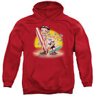 Betty Boop Surf Mens Pullover Hoodie Red $45.75 USD