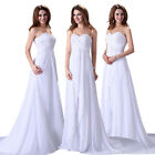 Women Mermaid Wedding Evening Bridal Bridesmaid Formal Prom Gown Dress 6-16 +