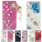 Bling Phone Cover Crystal Diamond Slots Stand Wallet Leather Case For Huawei