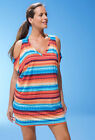 S4A SWIMWEAR Plus Size 2X, 3X Circus Slit Shoulder Swim Cover-up NWT