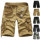 Men's Summer Casual Cargo Pants Shorts Work Military Camo Combat Army Trousers