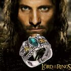 UNISEX: The Lord Of The Rings Aragon Ring Of Barahir Silver Plated Emerald Ring