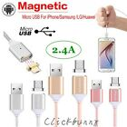 2.4 A Micro USB Charging magnetic cable usb android Charger for Samsung LG