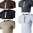 Fashion Men's Slim Fit Casual T-shirt Cotton Short Sleeve Shirts Tee Tops Summer