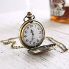 Retro Antique Pocket Watch Chain Necklace Pendant Unisex Vintage Gift