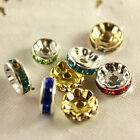30p sliver/gold Crystal color Rhinestone Rondelle Spacer Beads 4mm 6mm 8mm 10mm