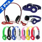 2x Pcs Over-Ear Earphone Headphone 3.5mm For iPod iPhone MP3 MP4 PC Tablet
