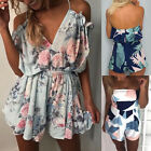 Boho Summer Holiday Mini Playsuit Ladies Jumpsuit Casual Beach Shorts Dresses