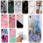 Pattern Granite Marble Rubber Slim Soft TPU Case Cover For iPhone Huawei etc.