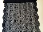 """Laces Galore"" ~Wide Black Swirly Stretch Lace 22cm/8.5"" Lingerie  Table Runner"