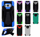 For Samsung Galaxy S8 / S8 PLUS Turbo Layer HYBRID KICKSTAND Rubber Case Cover