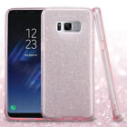 For Samsung Galaxy S8 / S8 PLUS SHINE HYBRID HARD Case Rubber Phone Cover