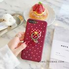 Elegant Kawaii Candy Color Pendant Stand Hard Case Cover For iphone 7 7Plus 6 6s