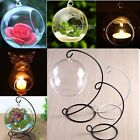 Glass Round Hanging Candle Tea Light Holder Candlestick Party Home Decor Romanti