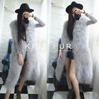 100%Real Mongolian Fur Long Vest Sheep Fur Gilet Waistcoat Coat Jacket Warm Gift
