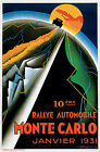 1931 Monte Carlo Rally Motor Racing Poster A3 / A2 Print