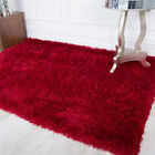 Barrington Deep Red Shaggy Thick Warm Thick Fluffy Soft Living Room Floor Rug