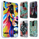 For LG K20 Plus Brushed Metal HYBRID Rubber Case Phone Cover + Screen Guard