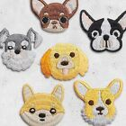 1Pcs Pets Dog Puppy DIY Iron on Sewing Embroidered Patch Applique Clothes Badge