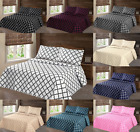 3PC LANCASTER GEOMETRIC BED BEDSPREAD QUILT SET COVERLET MODERN  IN SIZE KING image
