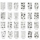 Transparent Clear Rubber Stamp Sheet Cling Scrapbooking Klar Silikon Briefmarke