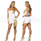 Ladies Womens Greek Roman Goddess Ancient Toga Fancy Dress Party Costume Outfit