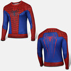 Mens Compression Marvel Superhero T-Shirts Gym Sports Tights Fitness Slim Tops