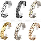 New Butterfly Clasp Solid Stainless Steel Watch Bands Wristwatch Strap Accessory